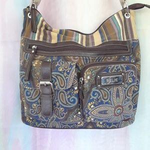 Relic Paisley & Stripes Crossbody/Shoulder Bag